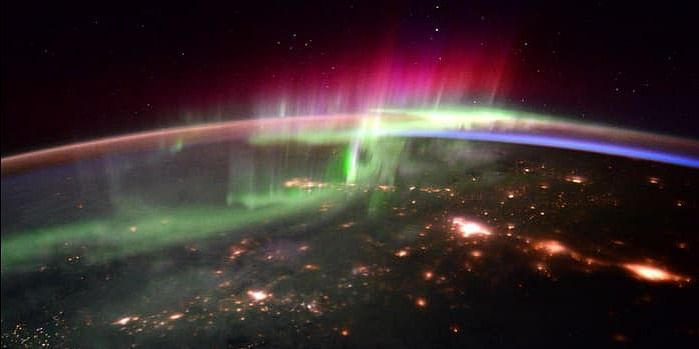 Aurora Borealis from above