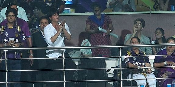 SRK spotted at the Eden Gardens, by our CEO