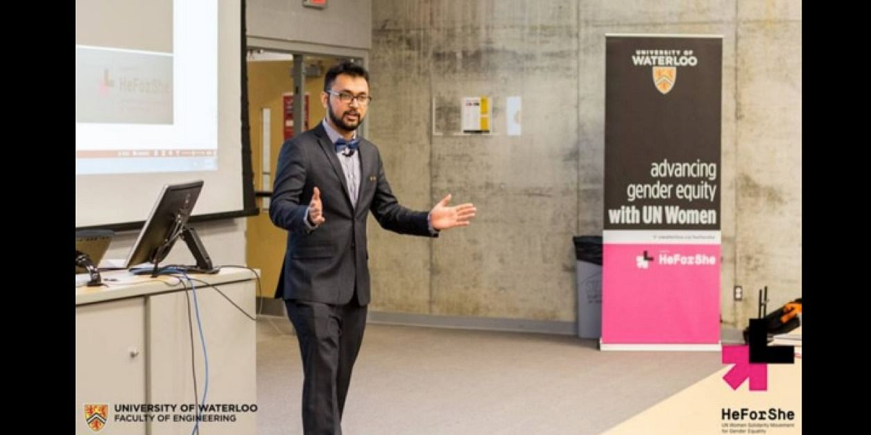 During the HeForShe guest lecture event at University of Waterloo in 2017