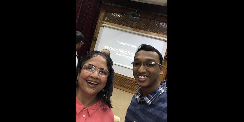 With Prof. Saras D Sarasvathy, Visiting Faculty at NSRCEL, IIM Bangalore.