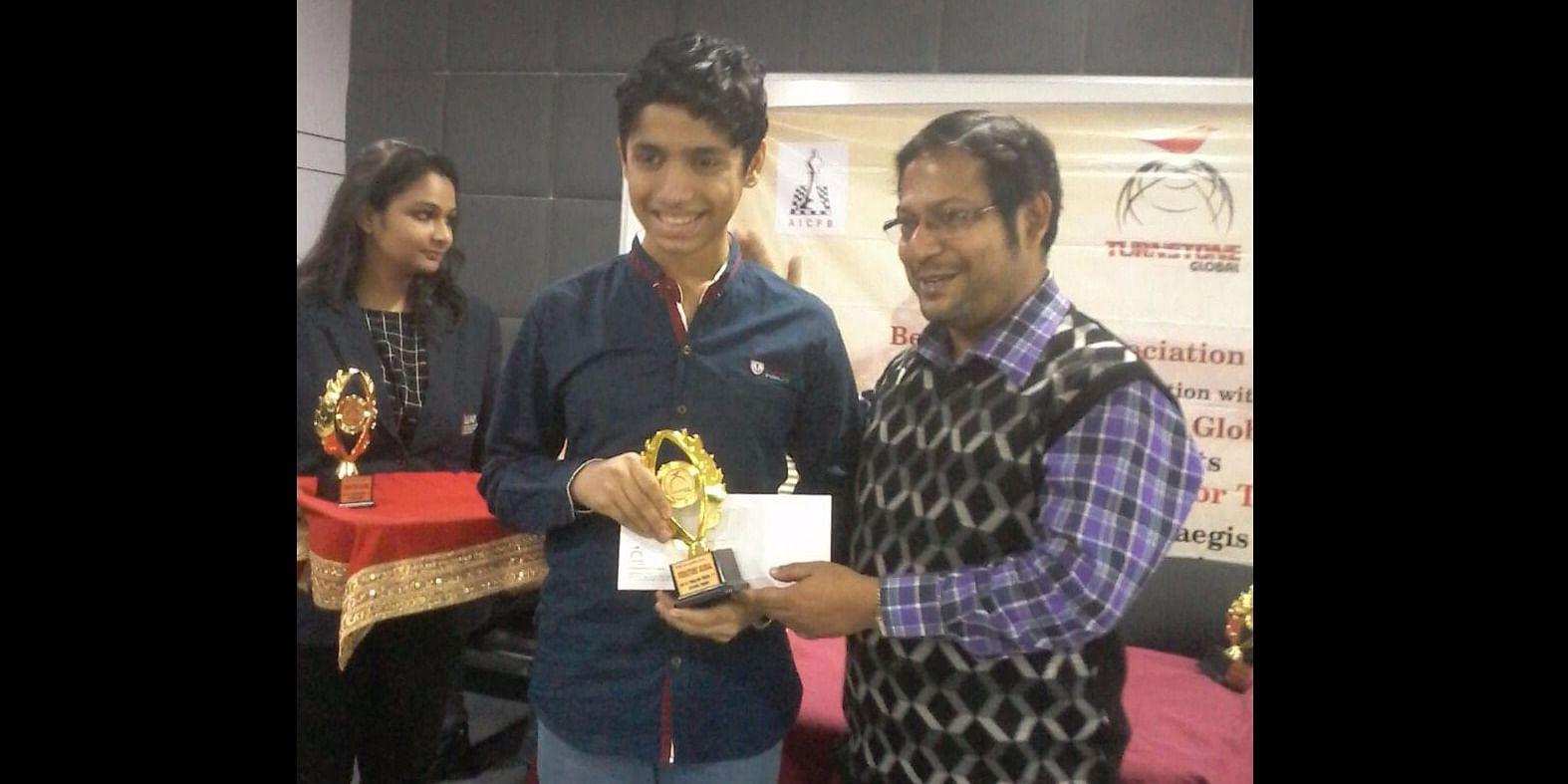 In Jan'17, Aryan stood  4th among 123 participants in National B Chess Championship at Kolkata, selected for National A Chess Championship.