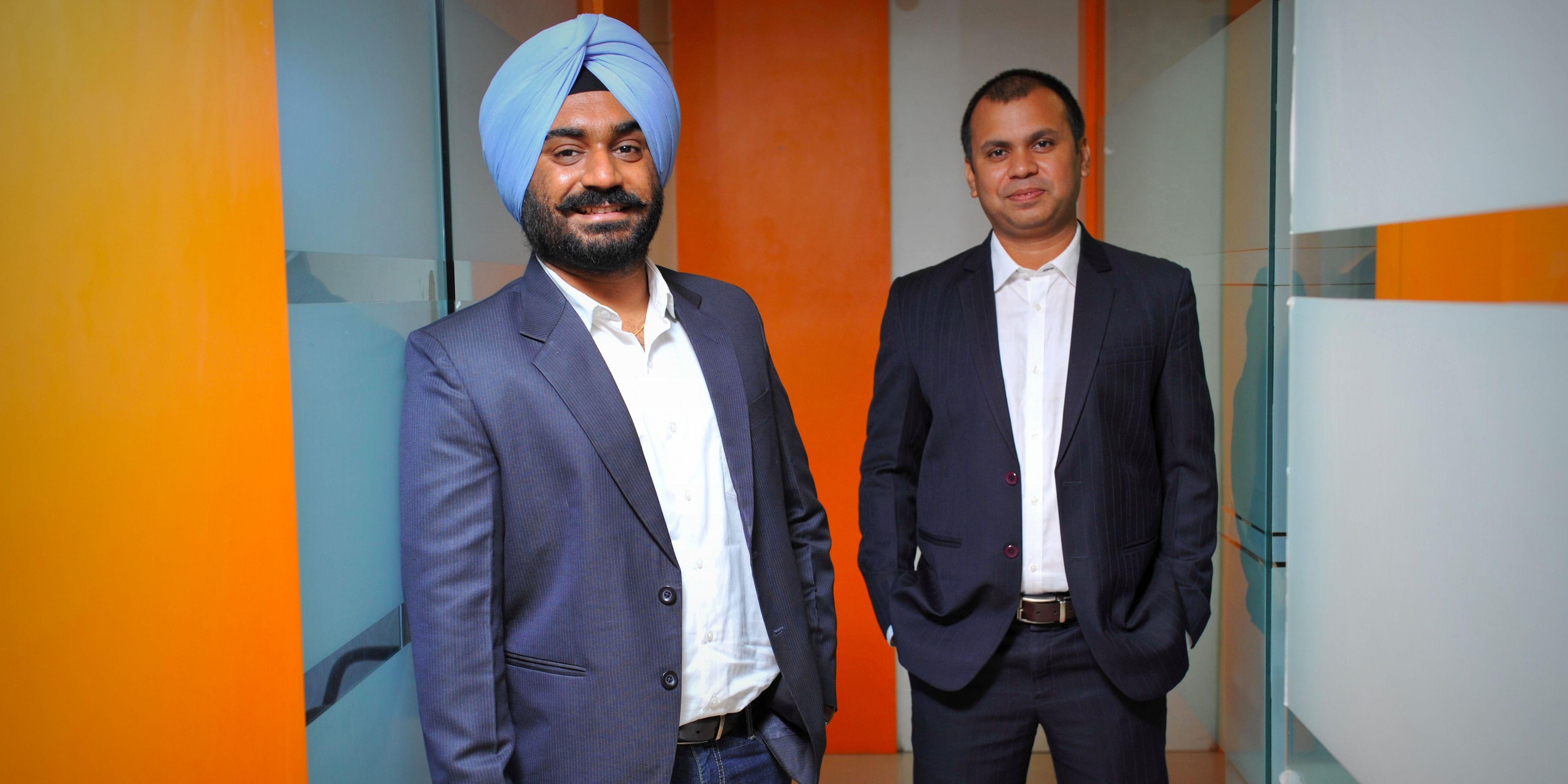 (Left) Harshdeep Rapal, CEO & Cofounder of Feelance Co. (Right) Subir Mitra, Cofounder and CTO