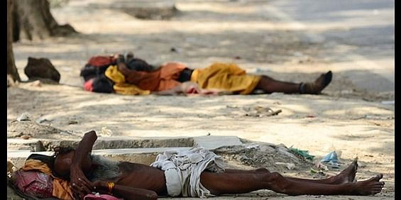 People who suffer from shortage of water during high temperature, Captured in Uttar Pradesh.