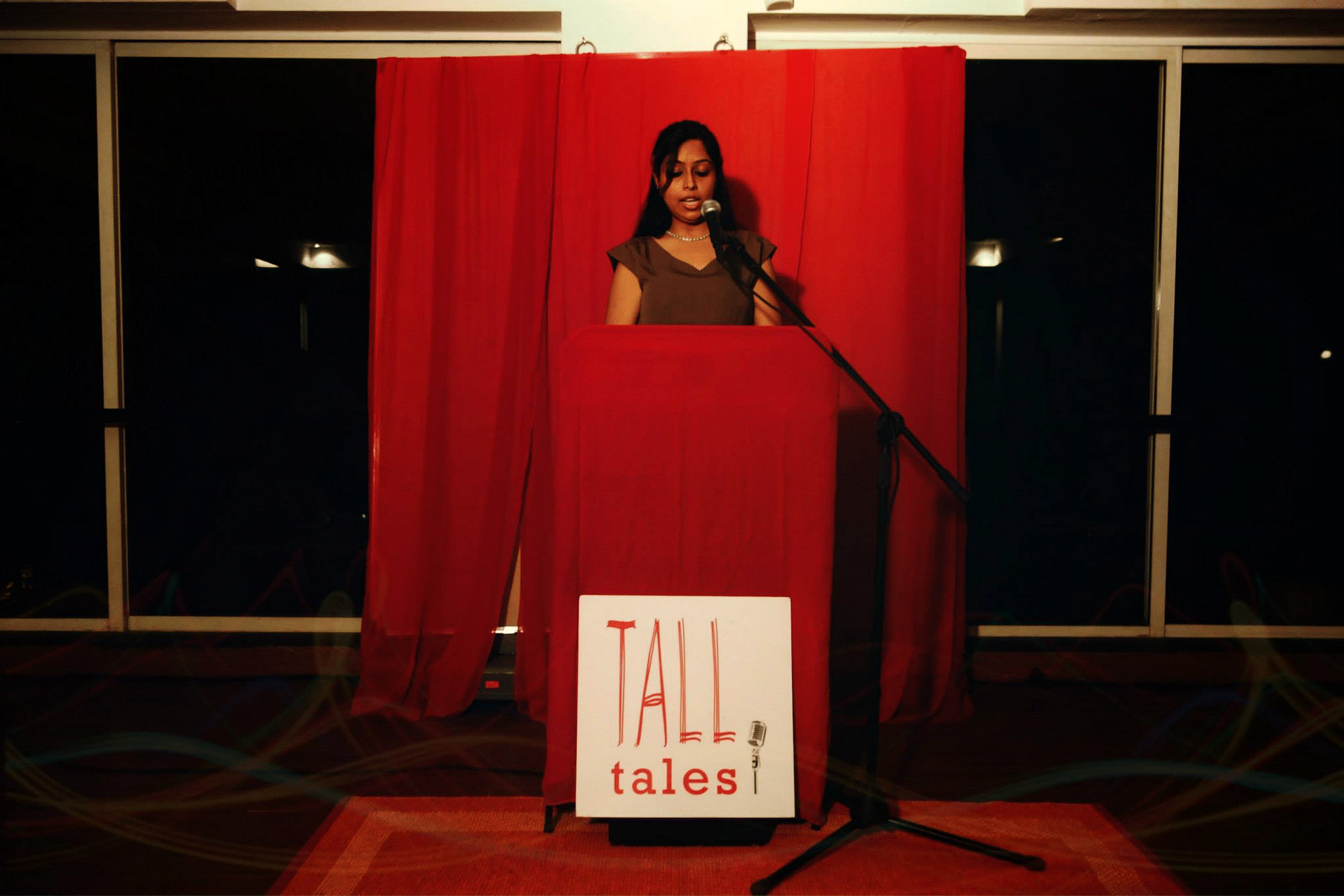 A live storytelling performance at Temperance, Bandra