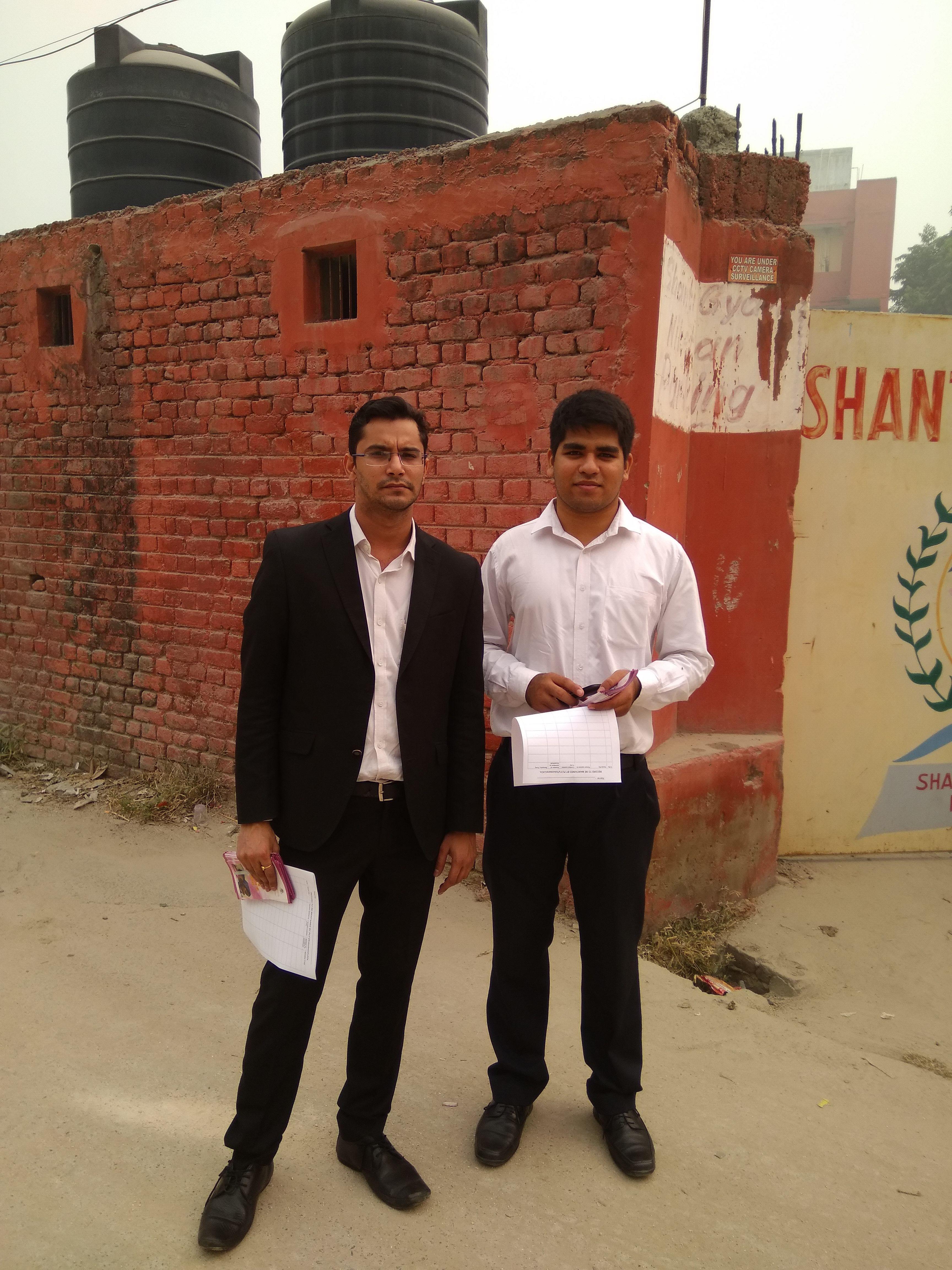 legal service advocates distributing legal aid material
