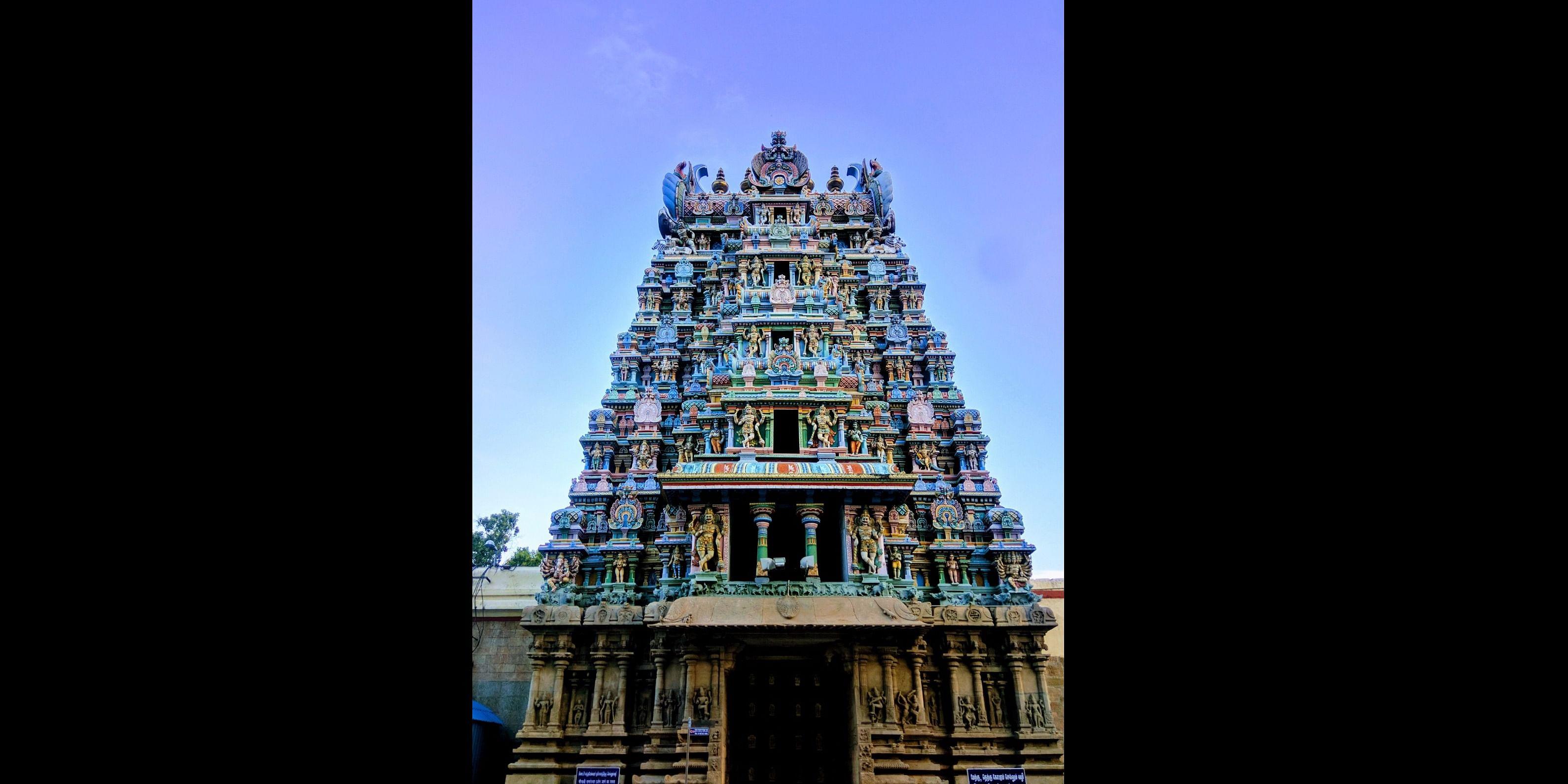 Gopuram at Meenakshi Temple