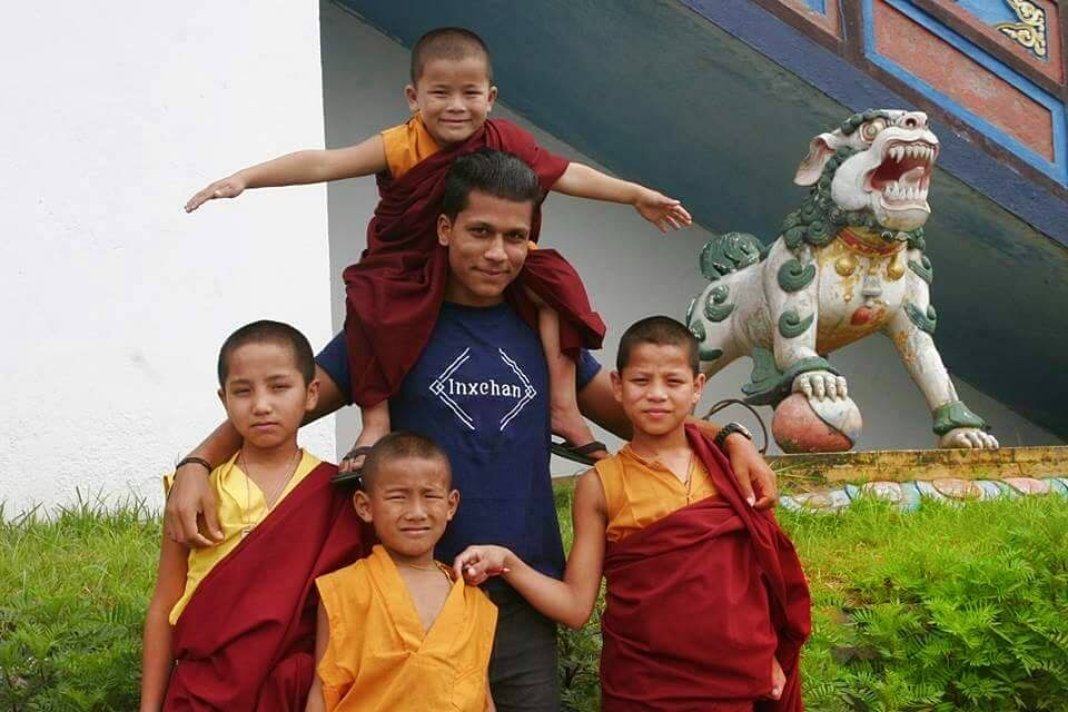 With local monks