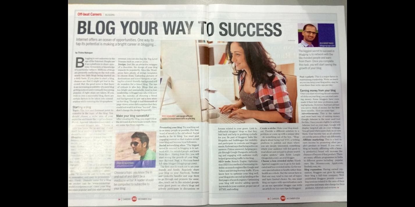 Kulwant's interview in Career 360