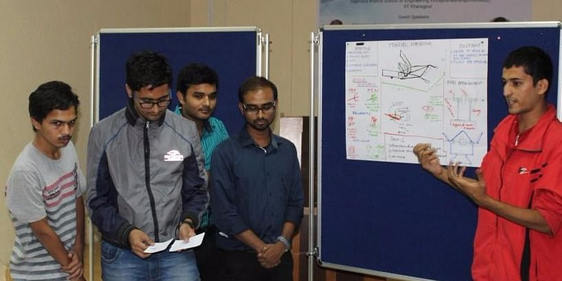 Students presenting idea at the workshop