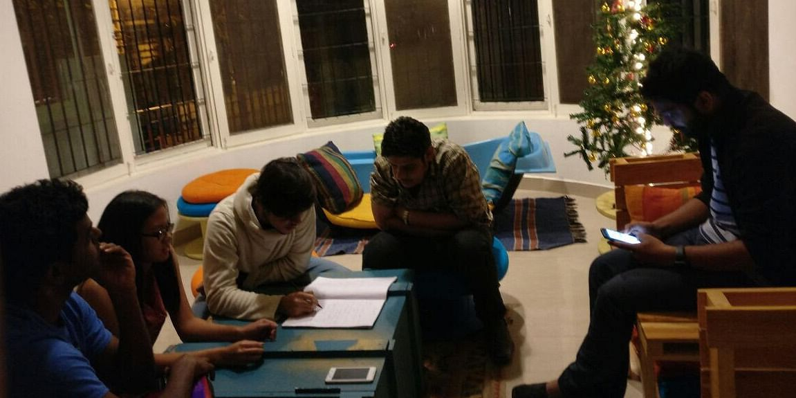 Collaboration in action in the main common room at Construkt