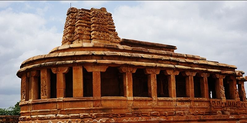 Photo #4: My friend Ajay told me, this building in Aihole inspired the construction of the Indian Parliament in Delhi.