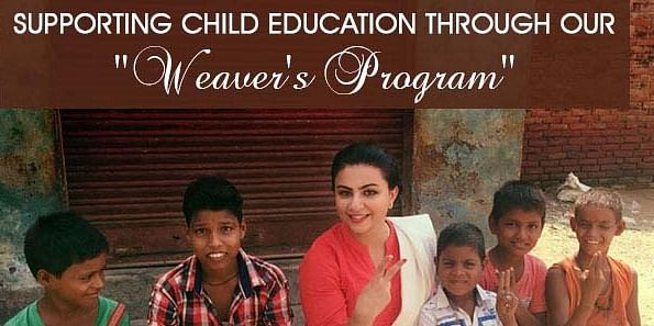 With some of our Weavers kids in Rural India