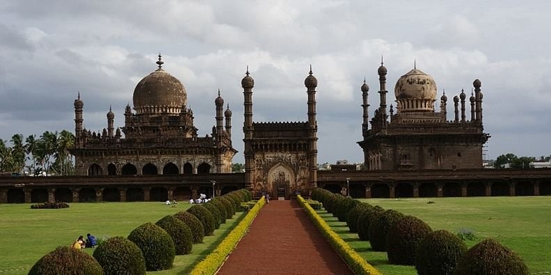 Photo #5: The beautiful Ibrahim Rouza is among the most elegant and finely proportioned Islamic monuments in India.