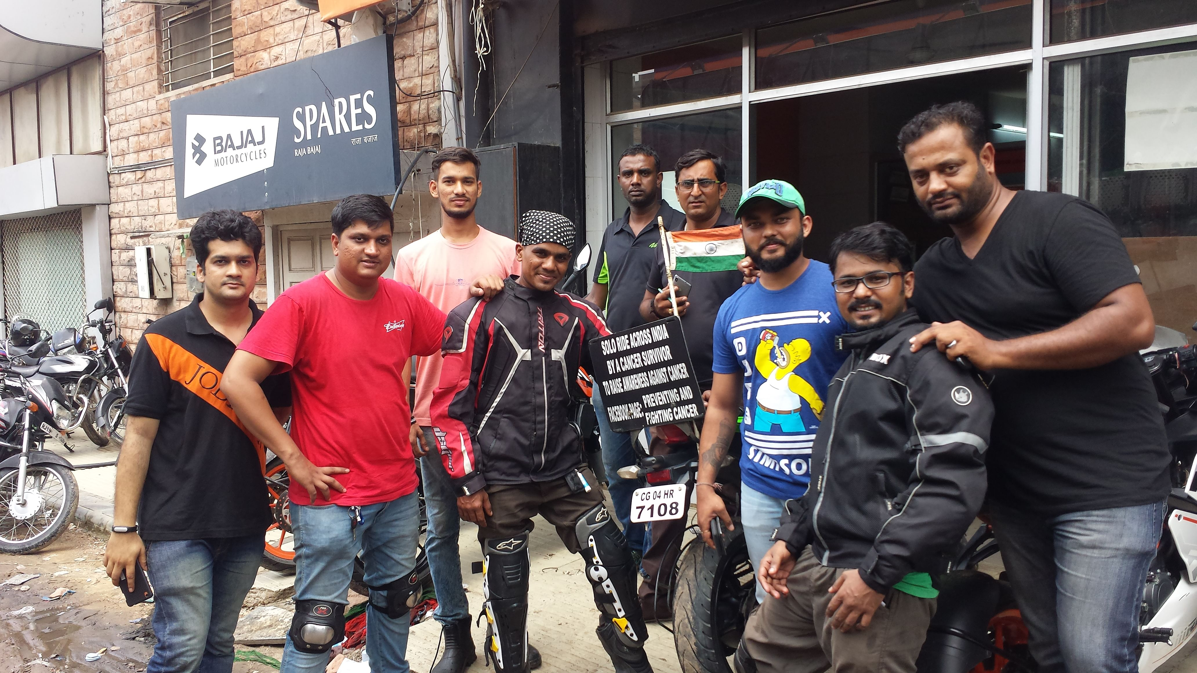 MEET WITH HERTAIJ BHARTESH..RIDER(Cancer Survivor on his 110th day of RIde)..