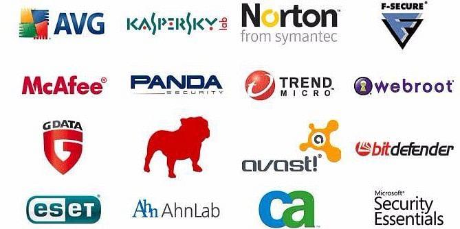 The main antivirus software producers