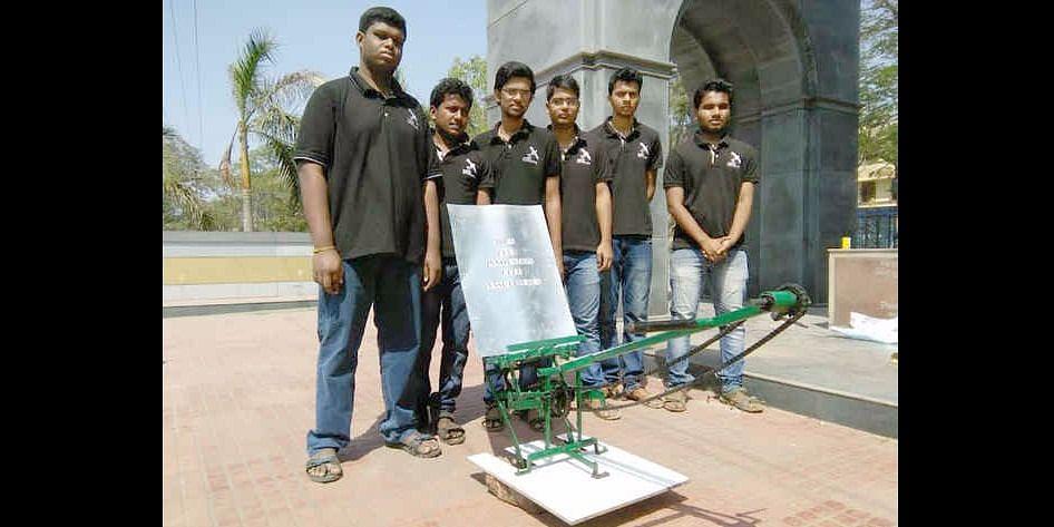 Idea Club Team develops Manual Paddy Transplanter