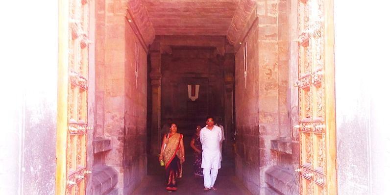 Figure 1 Entrance to the central shrine at Srirangam Temple