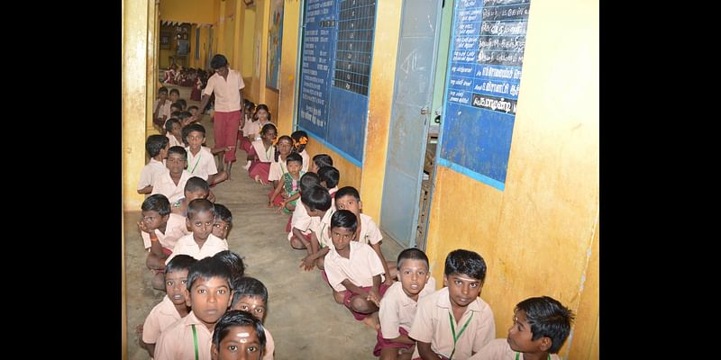 Students of the school who live in the Chettinad village, Pallathur