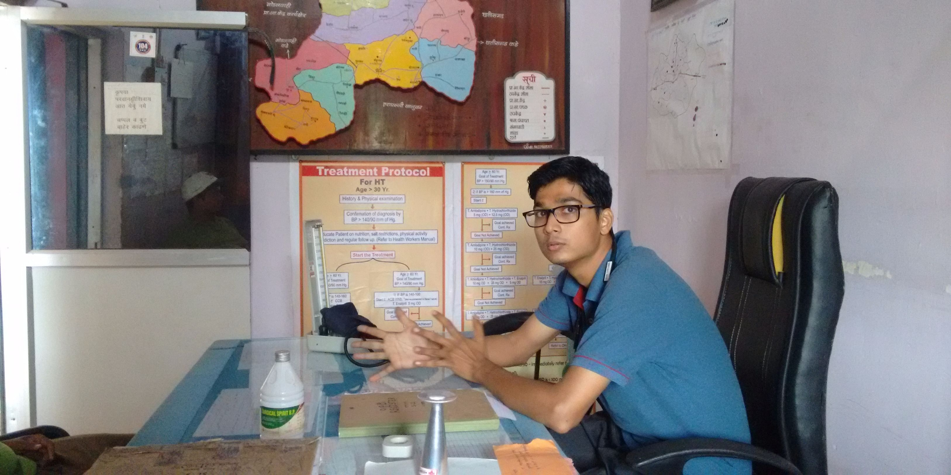 Dr. Prathamesh Hemnani in Primary Health Center, Pendhari, Gadchiroli