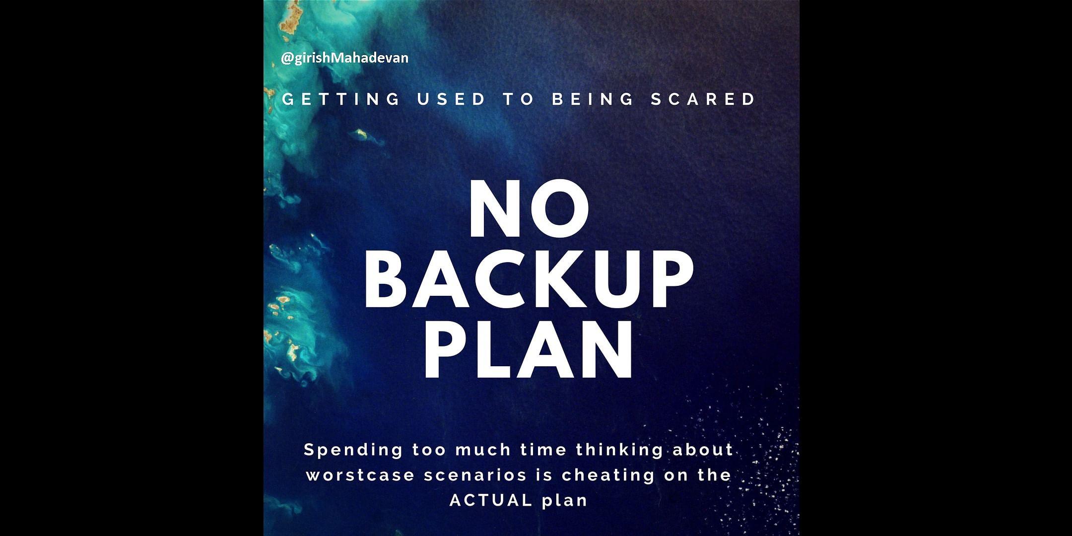 Planning the Plan B - A Graphic by Girish Mahadevan