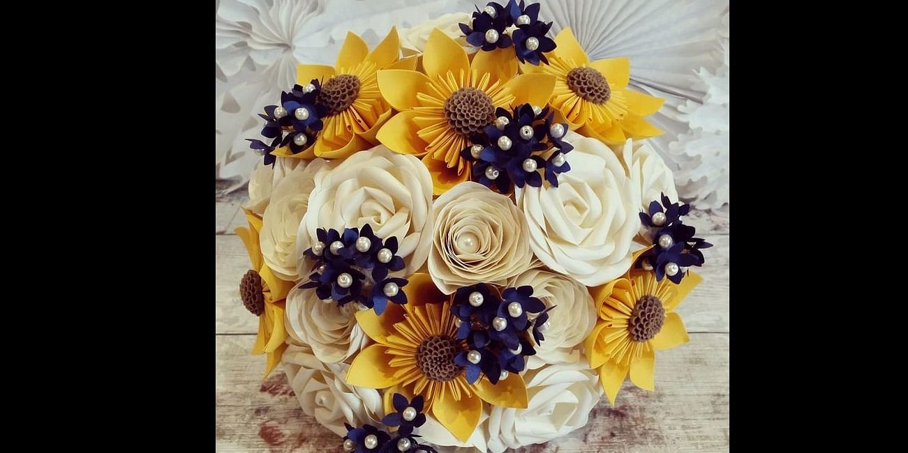 Paper flowers from Pinterest