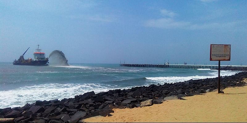 Promenaade Beach at Pondicherry