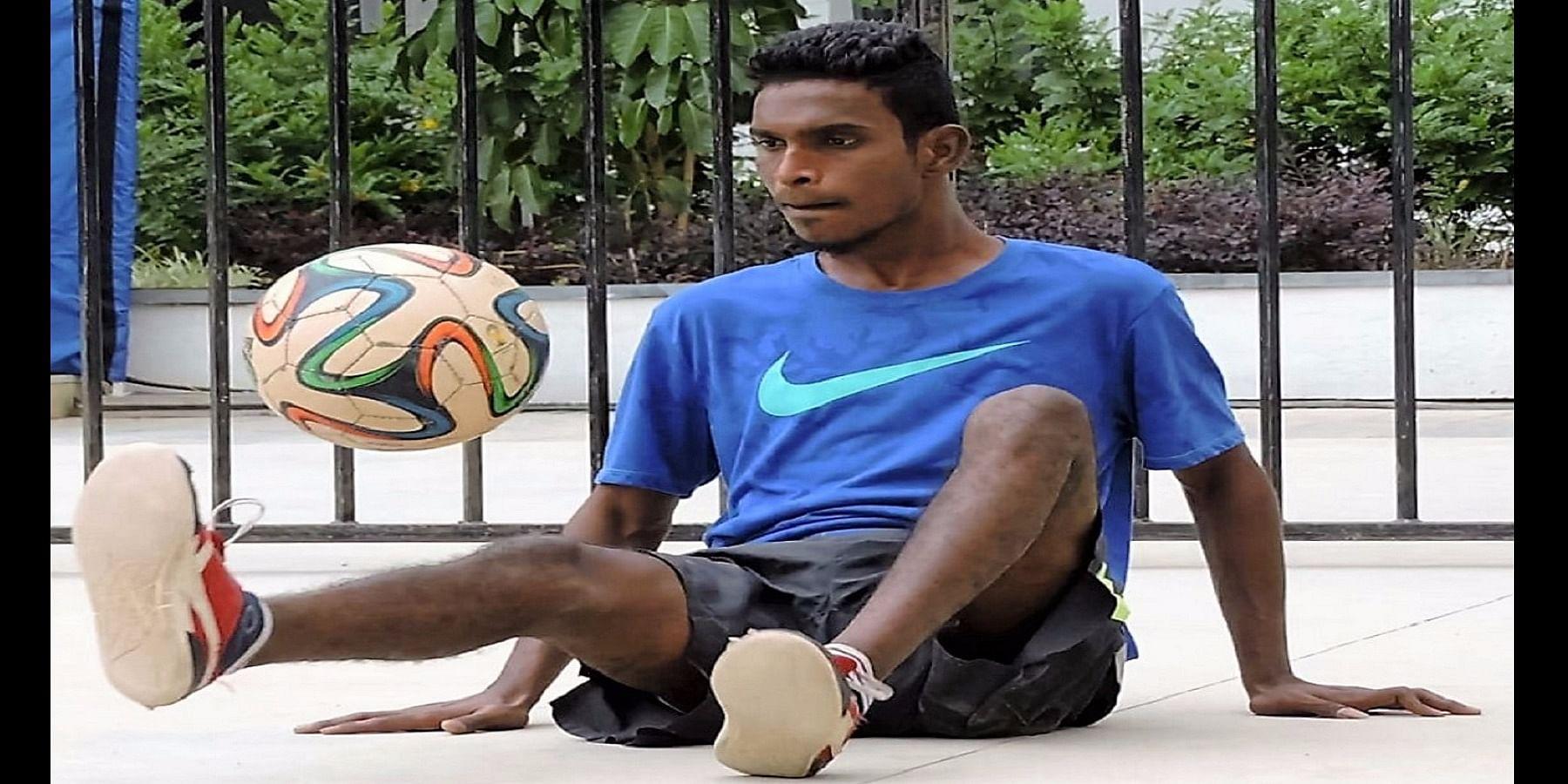 Satish on his footwork