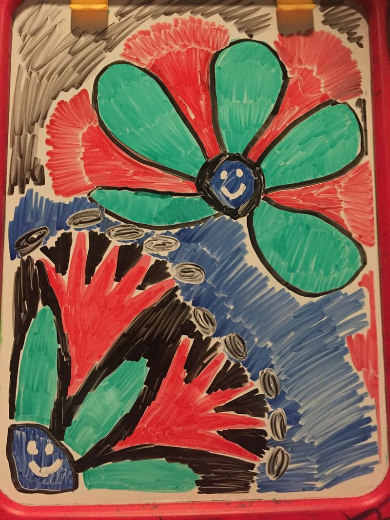 My daughter's Laasya's ART work.