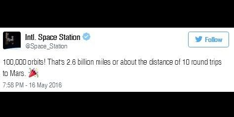 The post by ISS twitter handle.