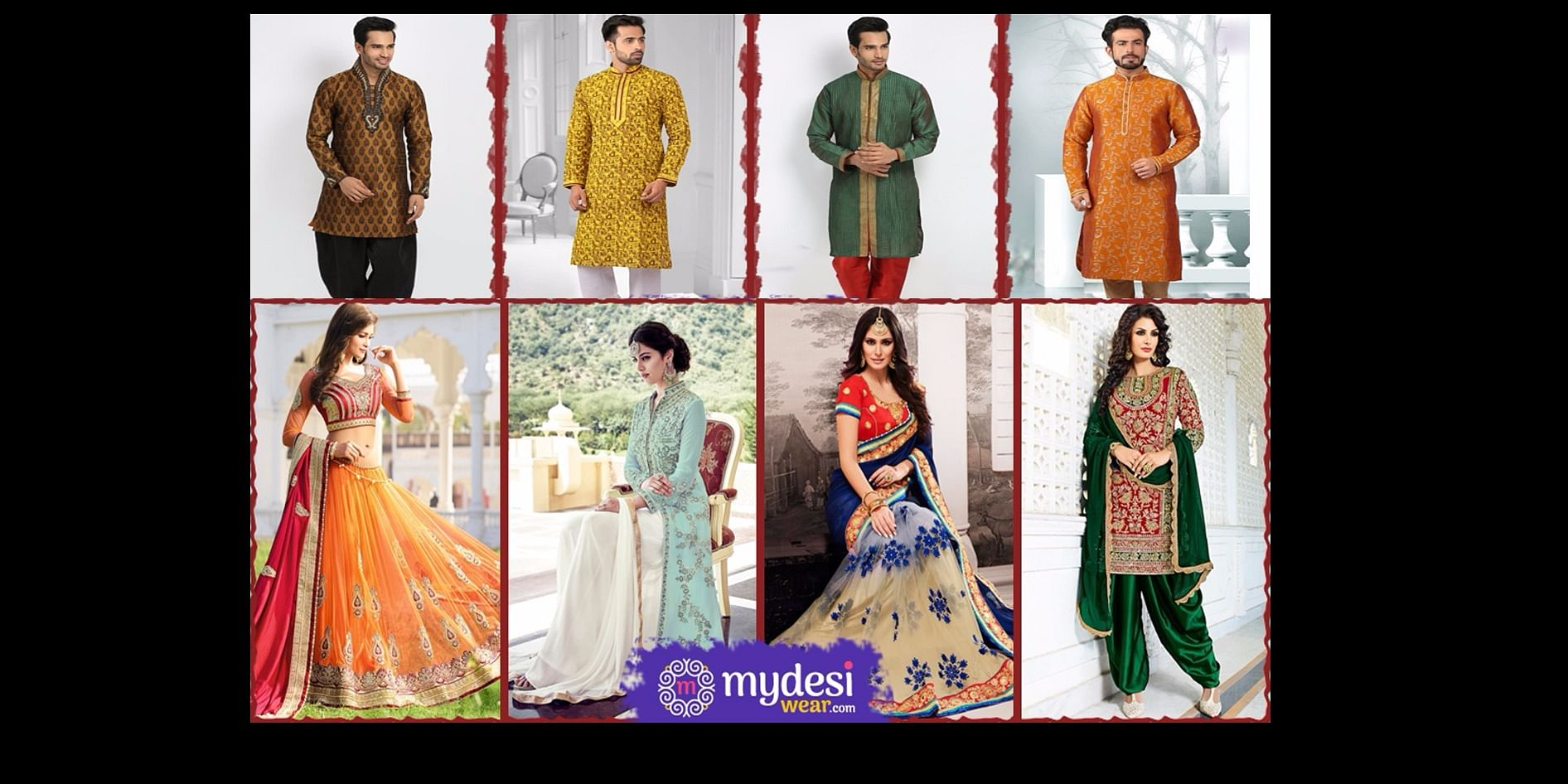 Indian Traditional Wear at Mydesiwear
