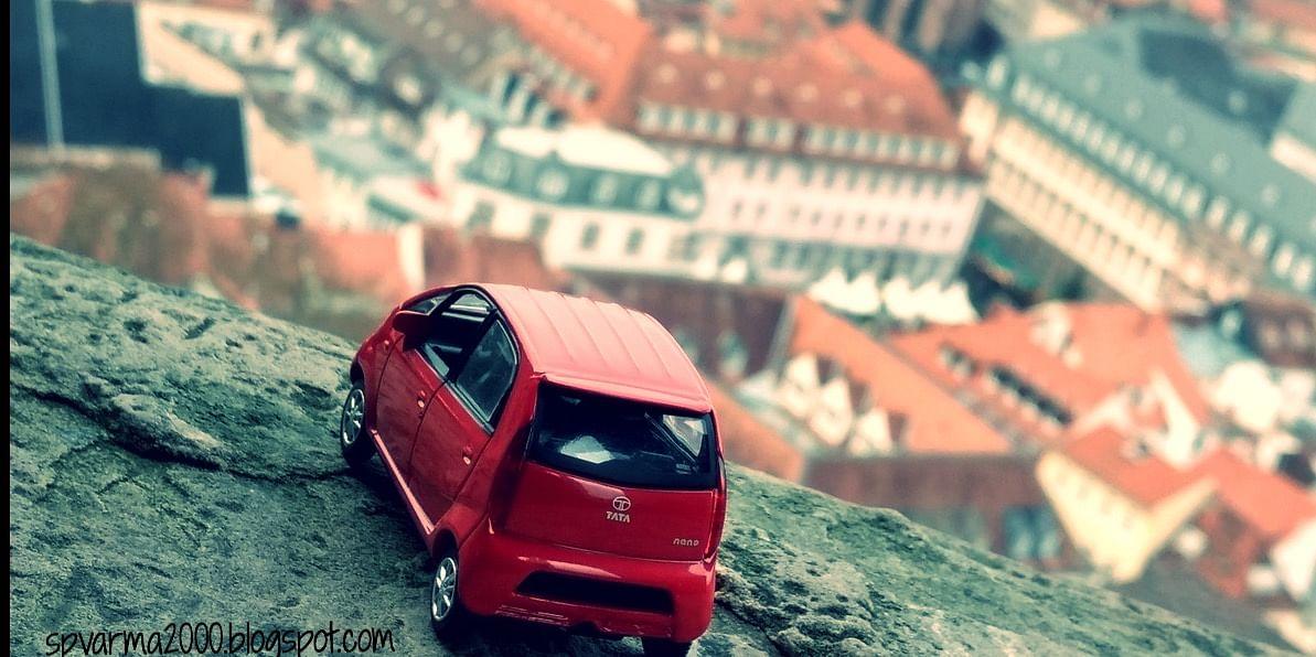 My little 1/43 Tata nano in Heidelberg, Germany