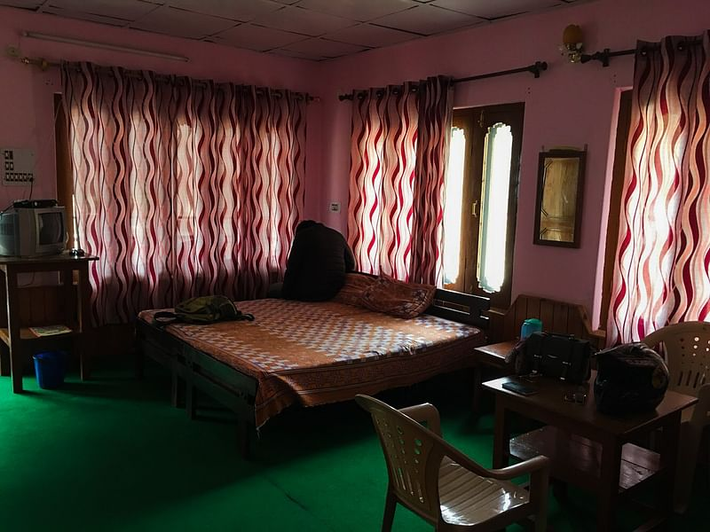 My room in Barot's Sachin guest house<br>