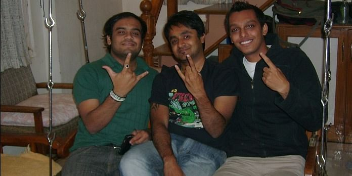 (From Left) <b>Ankit Shah, Kunal Odedra and Jinal Patel </b>- MBA Friends of Malay Sherasia from LJ Institute of Management Studies, 08/01/2010