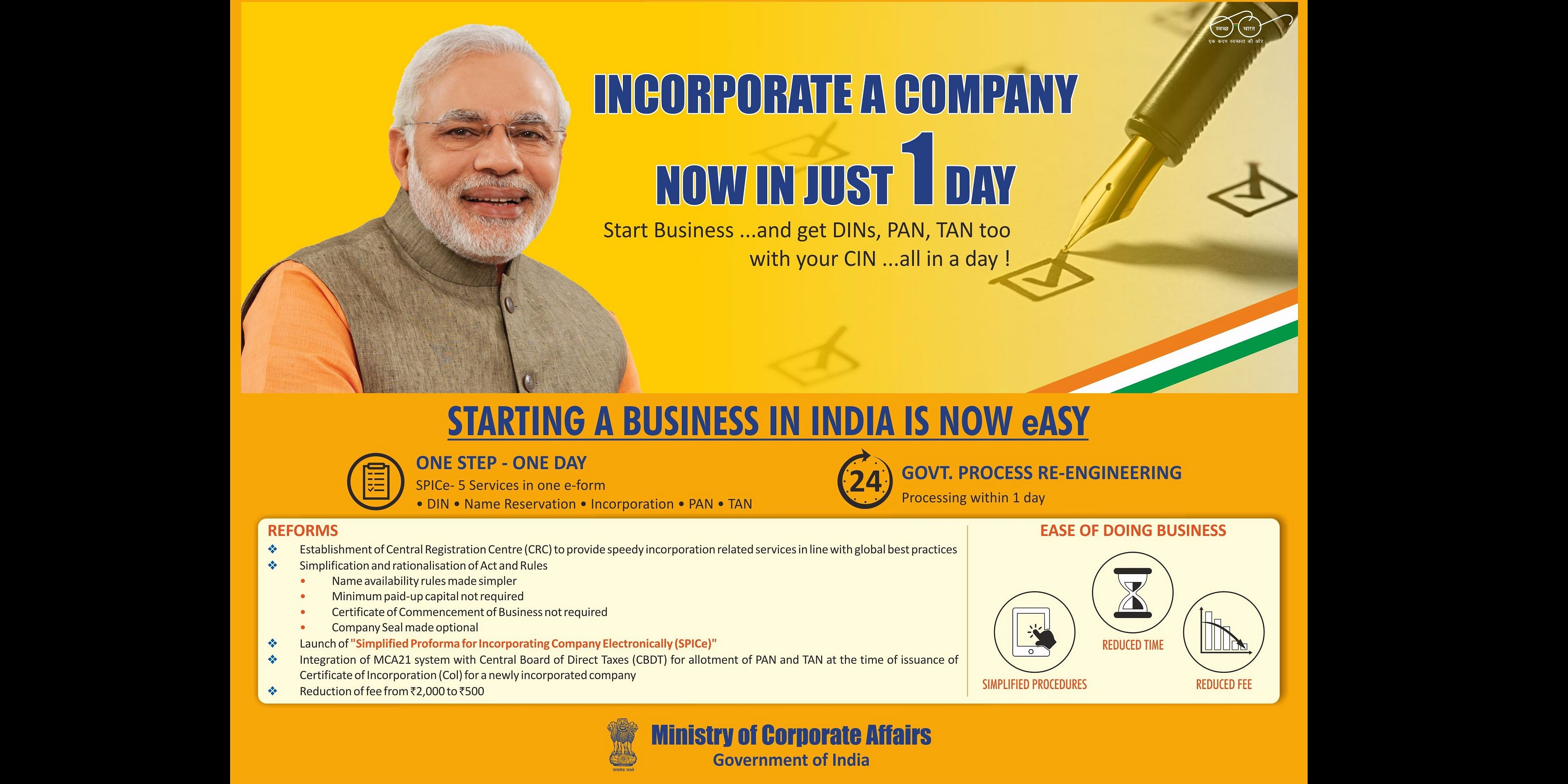 SPICe- One DaY Company Incorporation : Munim View