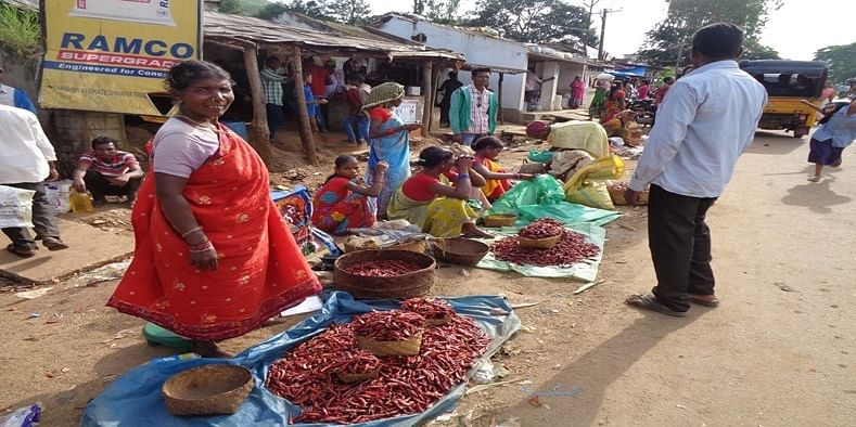 Figure 13 At the Friday local market, Araku Valley