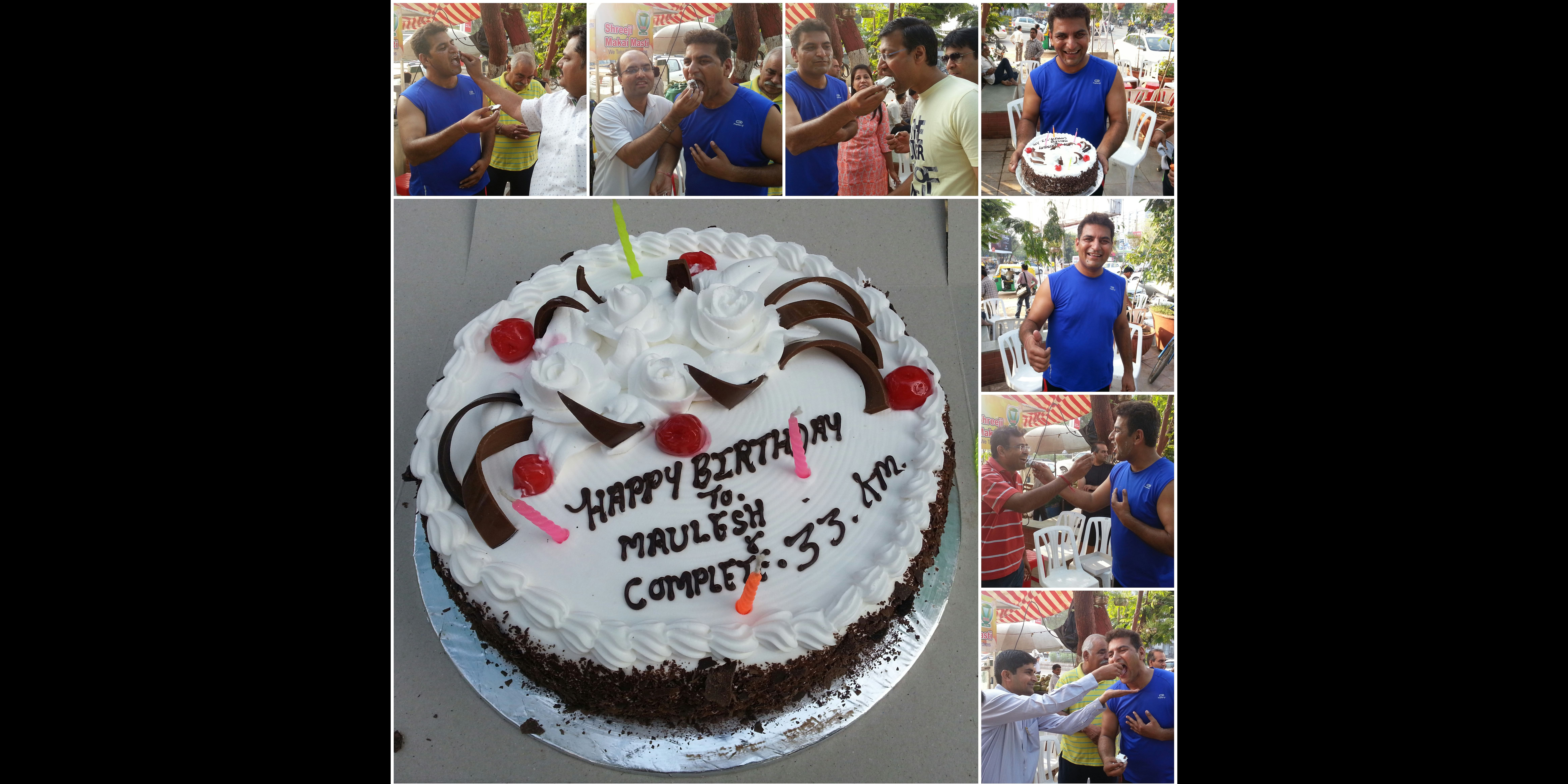 A Unique Celebration for Mr. Maulesh who completed 33 km running on his 33rd Birthday
