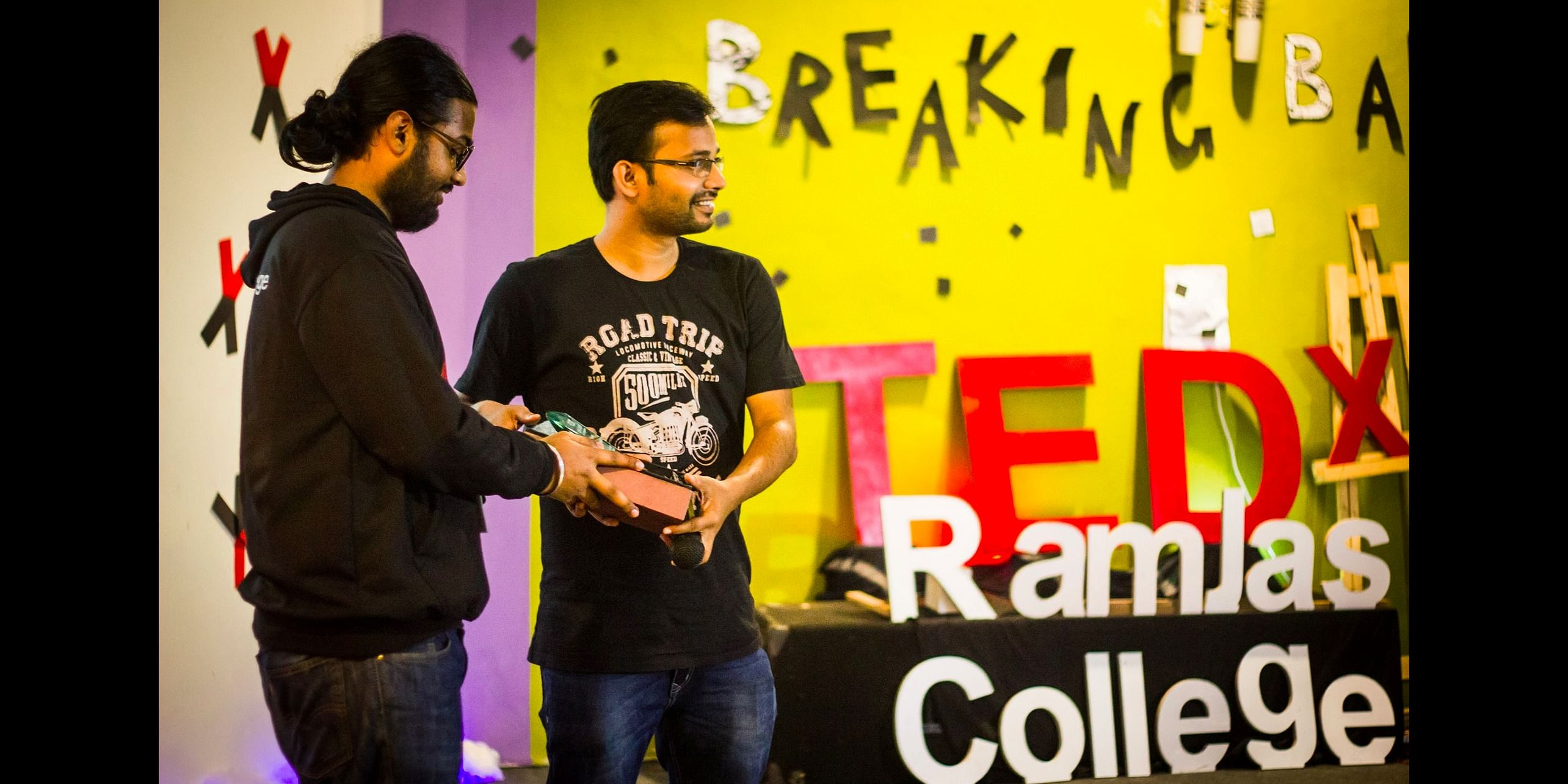 During the recent TEDx talk at Ramjas College, Delhi University