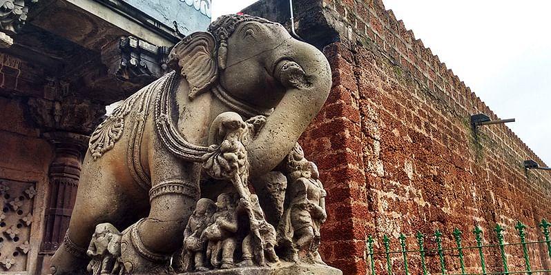 Figure 3 Stone Elephant, Entrance of Madhukeshwar Temple