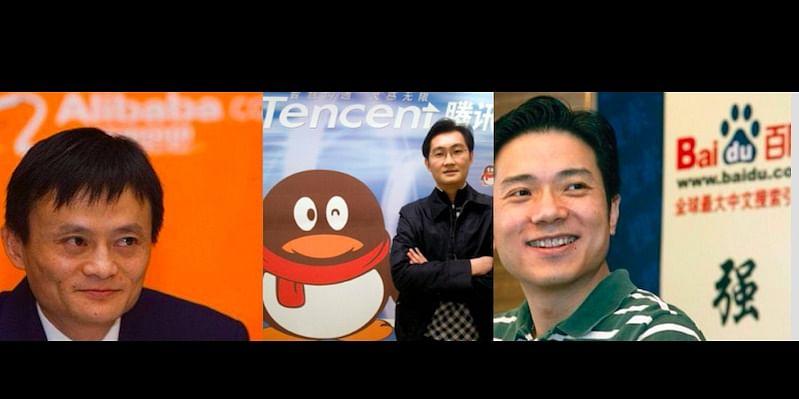 Jack Ma (Alibaba), Pony Ma (Tencent) & Robin Li (Baidu)