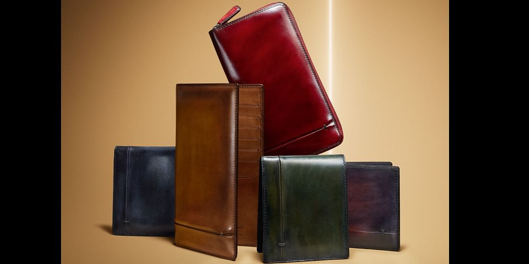 An exquisite collection of coloured leather