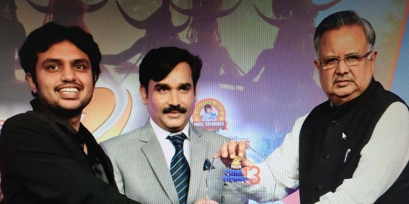 Got awarded from Chief Minister of Chhattisgarh as