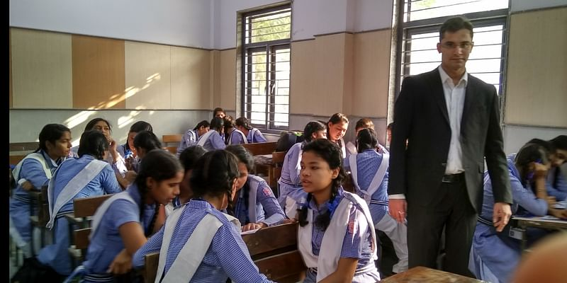 legal aid counsel in legal literacy camp in government school
