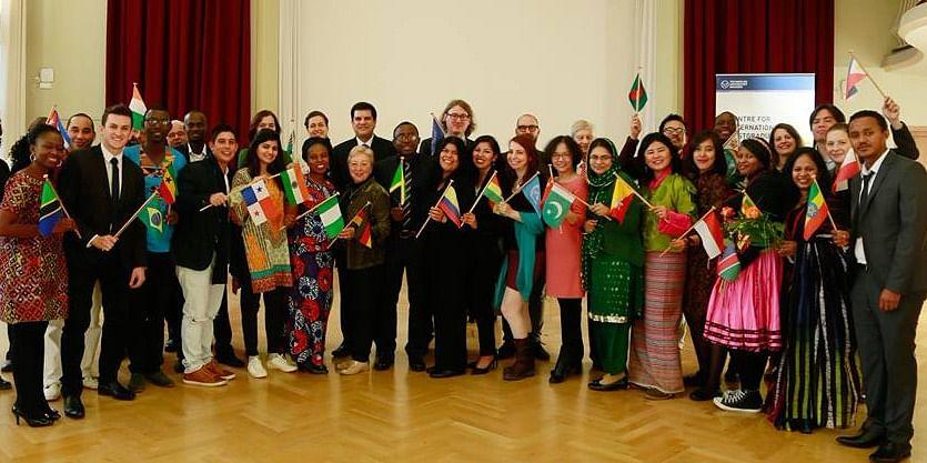 CIPSEM 73rd UNEP /UNESCO/BMUB Course Award Ceremony showing participants from