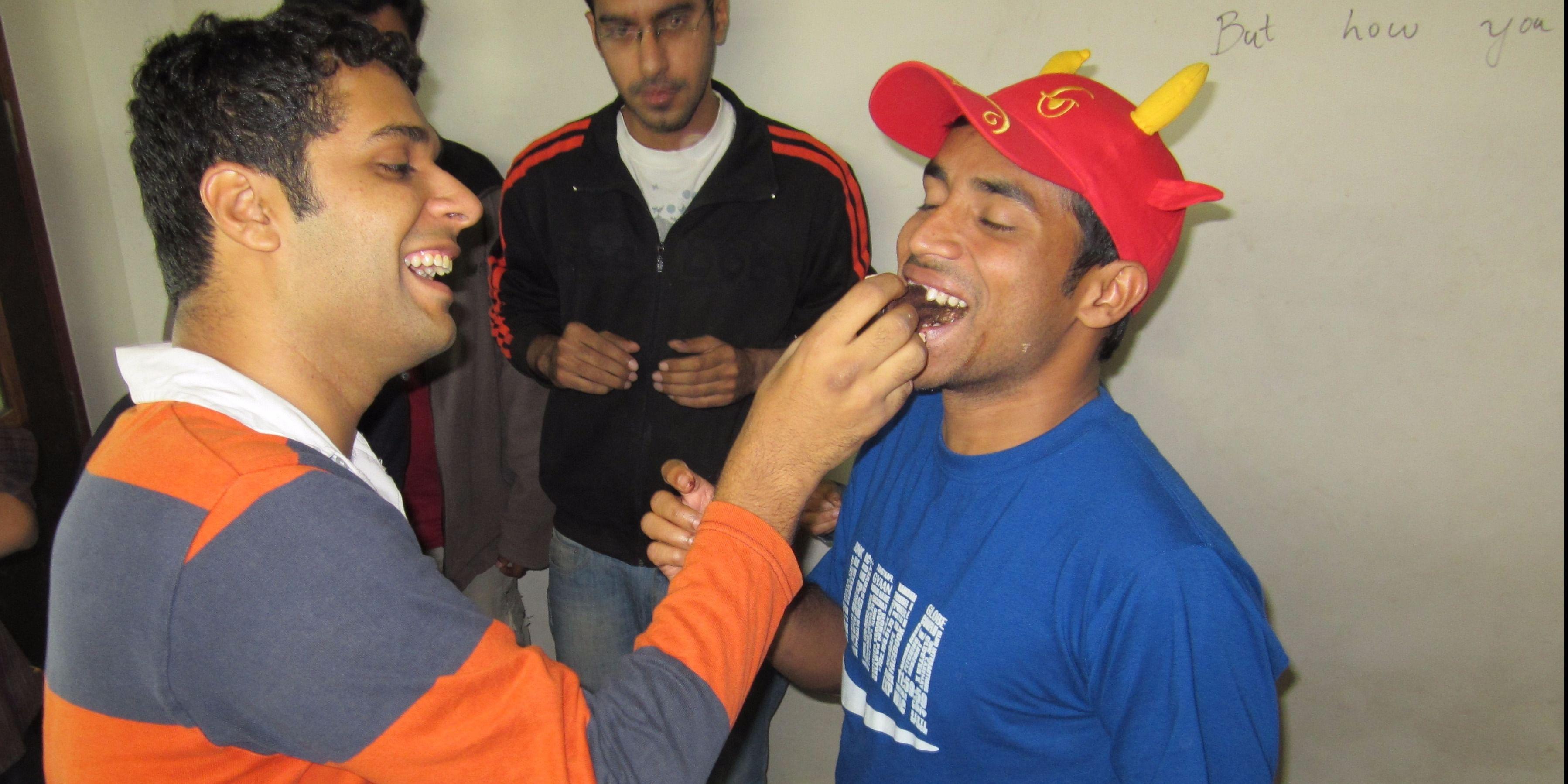 Midnightcake Celebration in IIM Ahmedabad