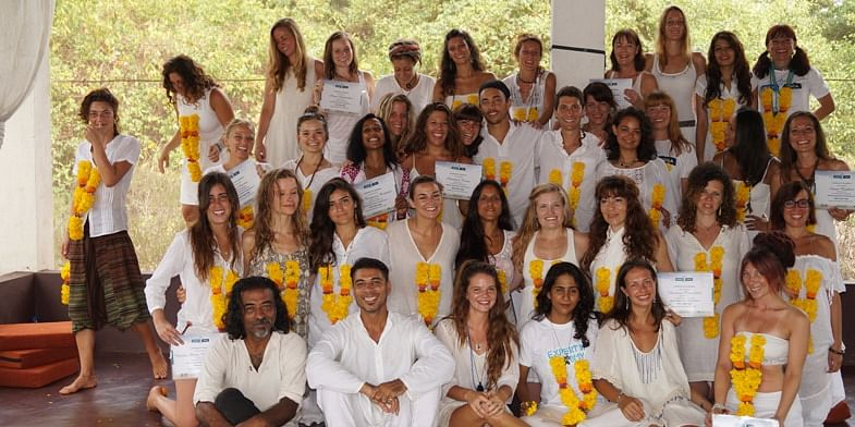 When I became Yoga Teacher. Bran is the darling standing in the middle!