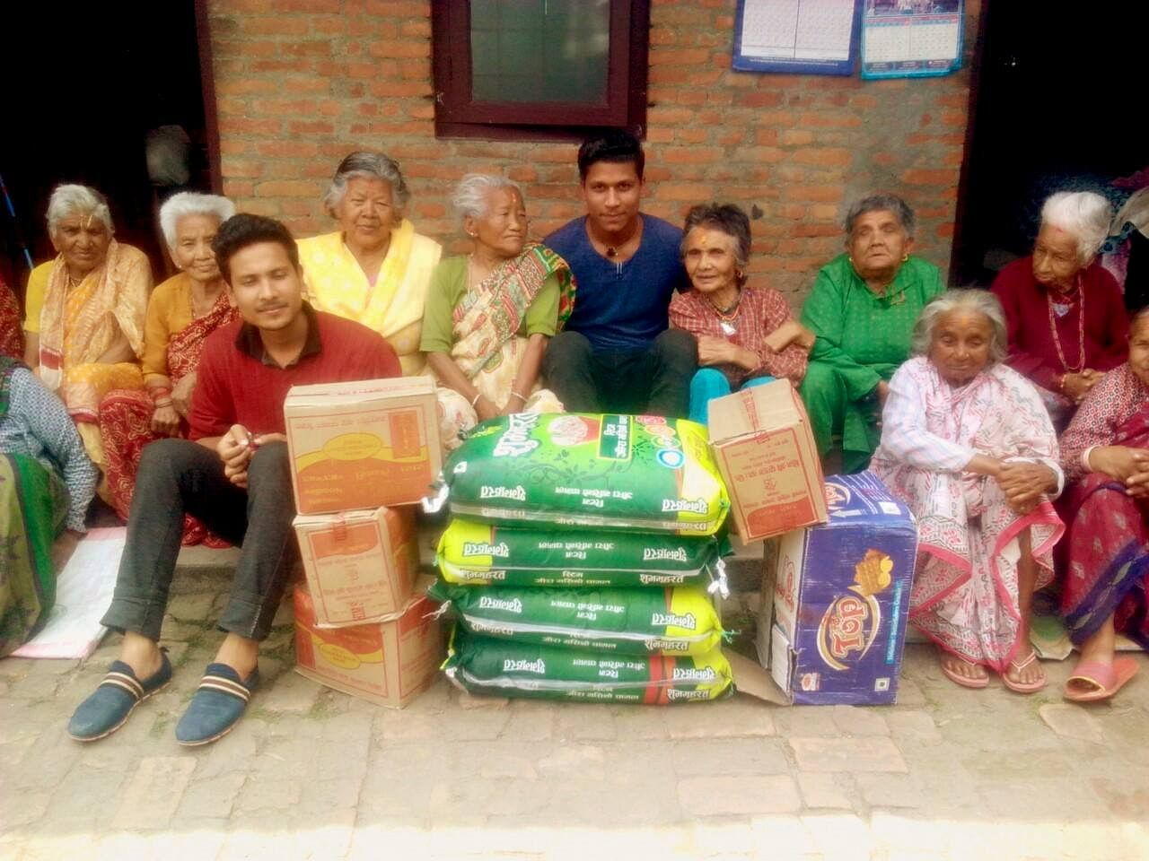 Food supplies to Old Age Home