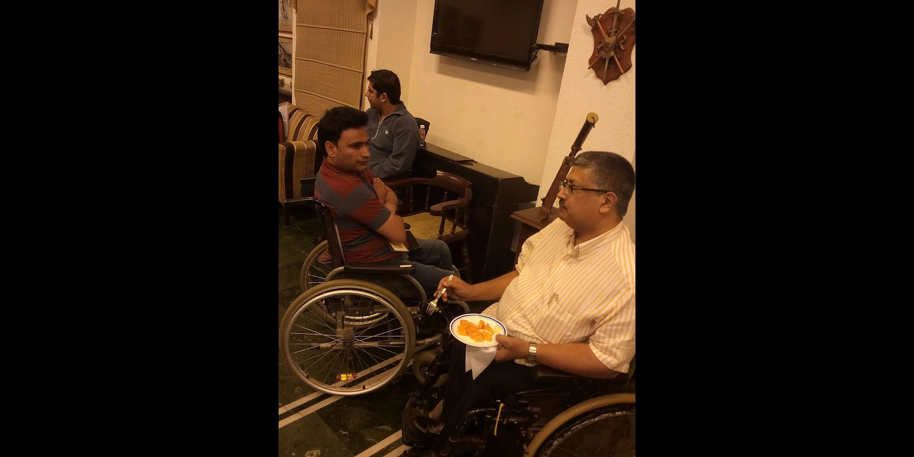WITH JAVED ABIDI   - INDIAN DISABILITY ACTIVIST