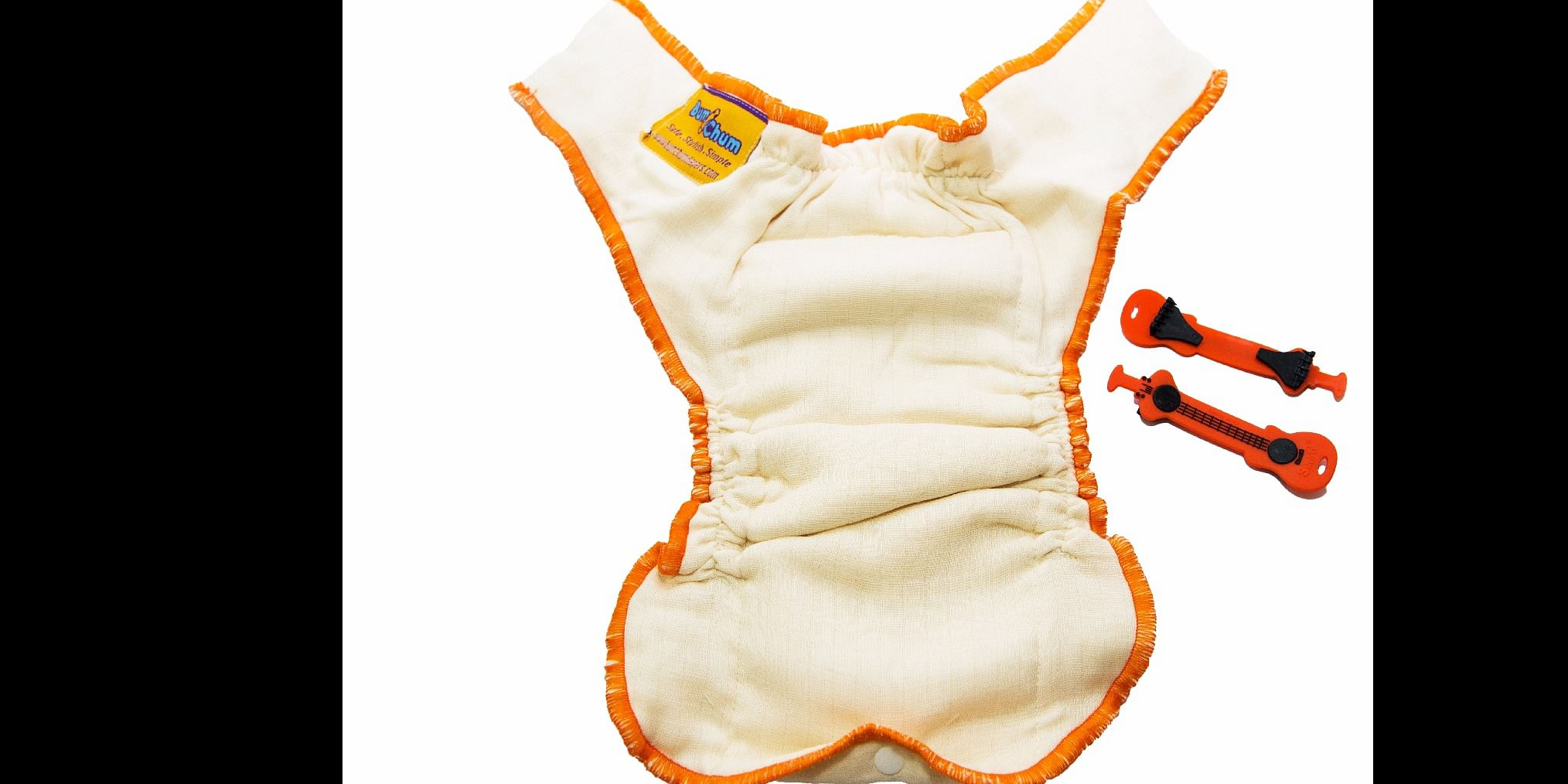 Newborn Organic Muslin Nappies with silicone Diaper Fasteners