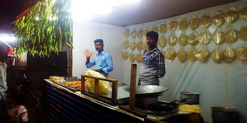 Big papad and mirchi shop at Chidambaram