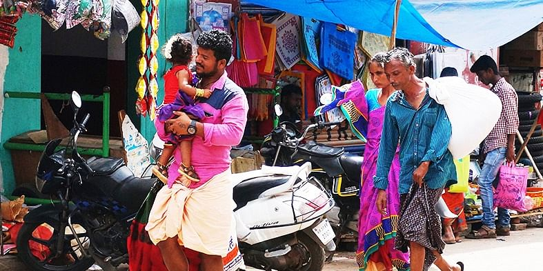 Photo #1: Everything seemed very colorful in Karapura, besides, I like to see familiar moments.